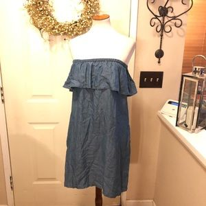 Tommy Bahama Denim Like Off The Shoulder MidiDress